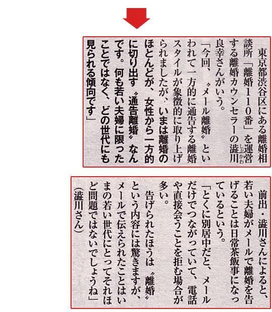 女性セブン2010年6月3日号にて『離婚-母式・娘式』という記事で取材を受け、コメントをさせていただきました。