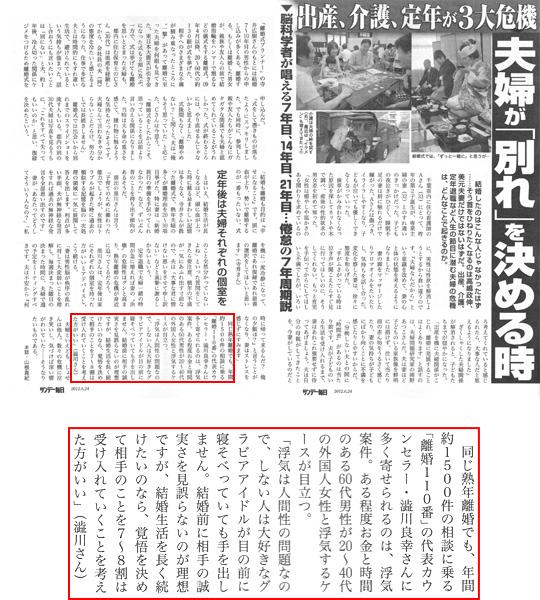 サンデー毎日6月24日付記事で取材を受けました。